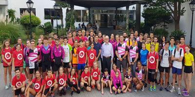 Concentración Nacional de atletismo en Son Bou