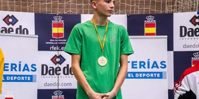 Julen Triay campeón de la Liga Nacional de karate