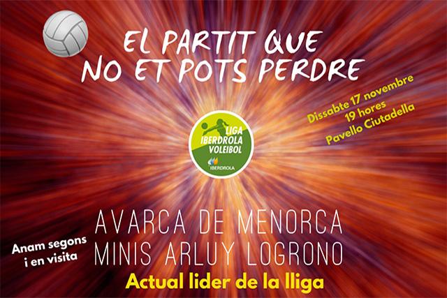 Cartell anunciador partit Avarca-Logroño