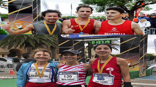 Ganadores Rafel Quintanta-María Pallicer ganadores Mitja Marató 2018