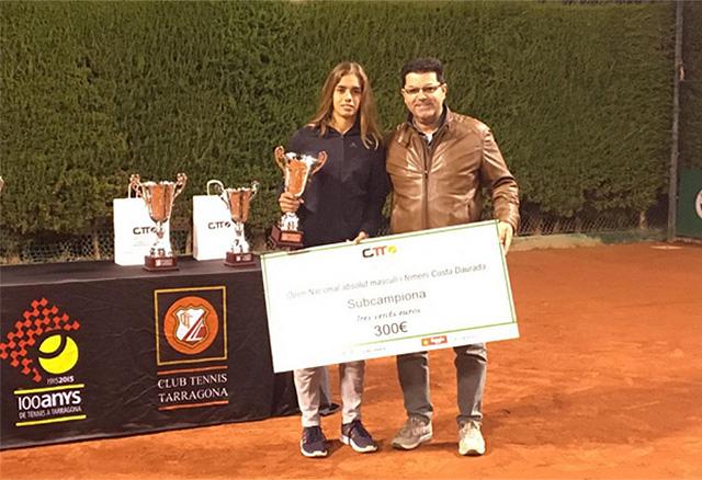 Gemma Negré-Tenista subcampeona en Tarragona