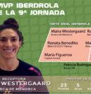 La receptora de Avarca de Menorca Maira Westergaard, MVP Iberdrola de la novena jornada