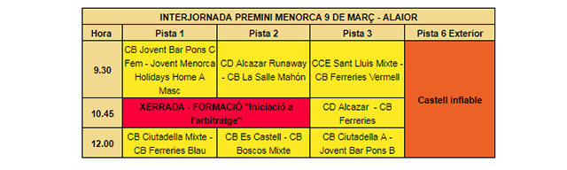 Calendari Interjornada Premini