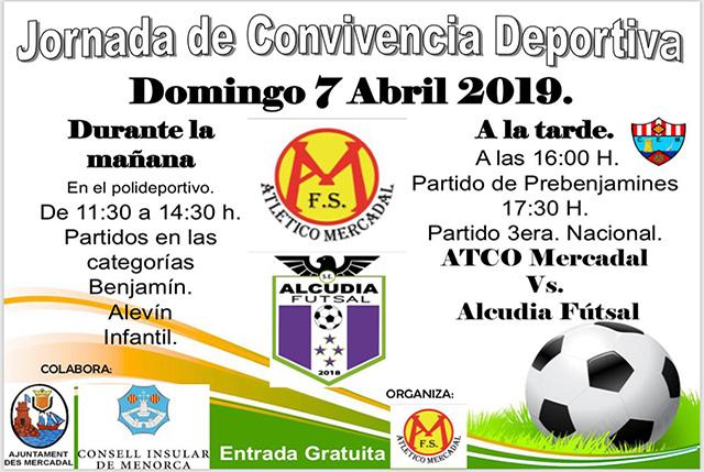 Cartel Jornada convicencia Futbol Sala