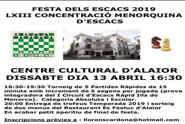Cartell festa Escacs