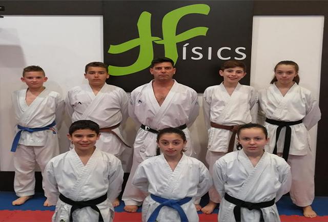 Fisics en el Nacional de karate