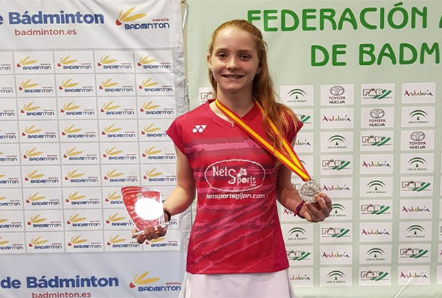 Laura Anglada-Plata Cto España Sub 15 Badminton