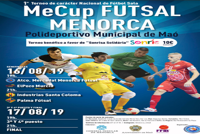 Cartel Mecup FutSal Menorca