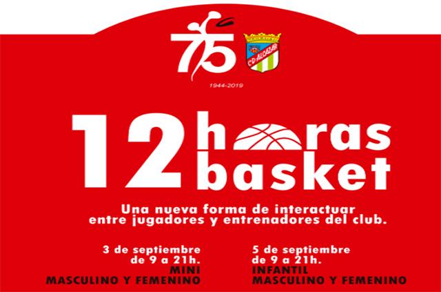 Cartel 12 horas basquet CD Alcázar