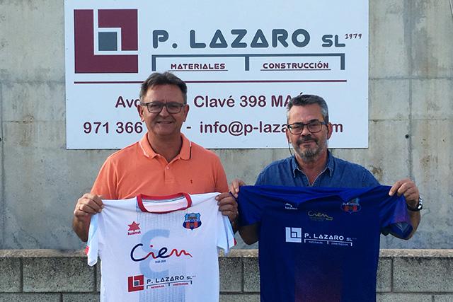 P Lázaro -patrocinador CD menorca