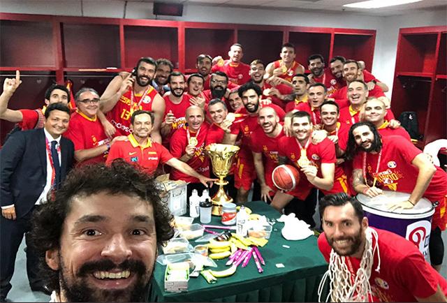 Sergio Llull - Selfie campeones del mundo