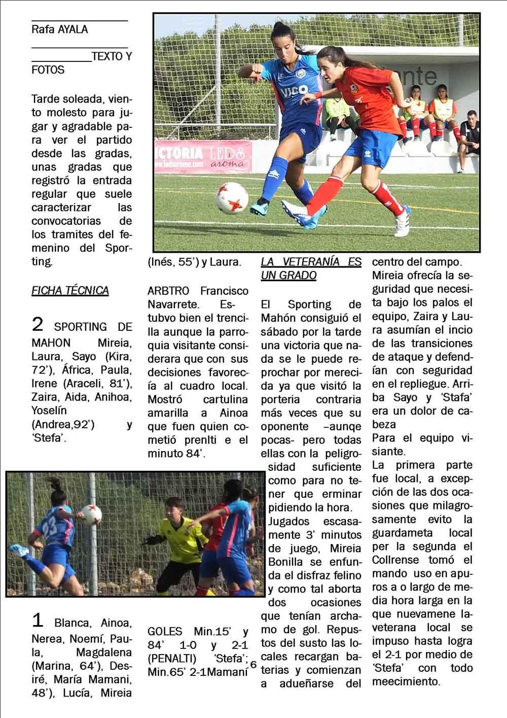 Sporting-Collerense Copa Federacio