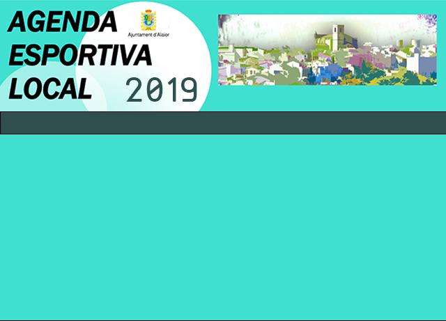 Caratula AGENDA ESPORTIVA Lô 2019