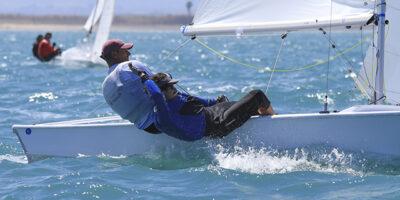 Damián Borrás y Jordi Triay en regata