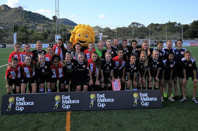 East Mallorca Girls Cup-At. Bilbao y BSF Copenhaguen (sub-16) posan conjuntamente.