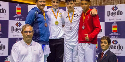 Lucas Tobajas plata Liga Nacional de karate