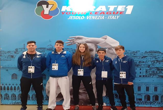 Julen Triay quinto - Liga Mundial Karate en Venecia