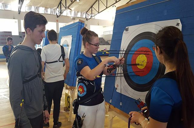 Tir amb Arc-Primer Control de Deporte Escolar