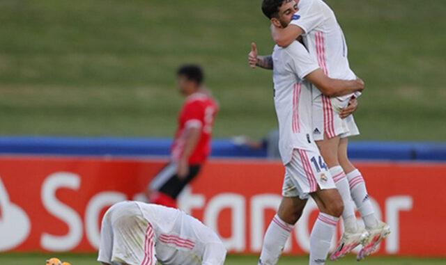 Xavi Sintes-Celebración Real Madrid juv-Young League