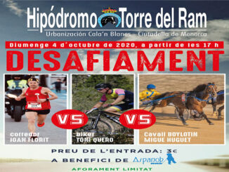 Desafiament Corredor, ciclista i cavall-Torre del Ram