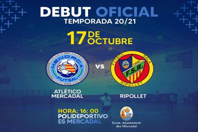Cartel At. Mercadal-Menorca Futsal