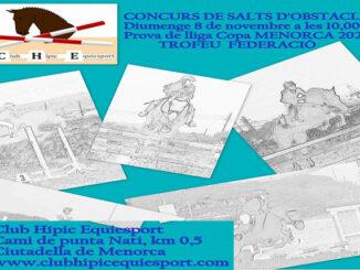 Cartel Concurs Salts d'obstacles Copa menorca