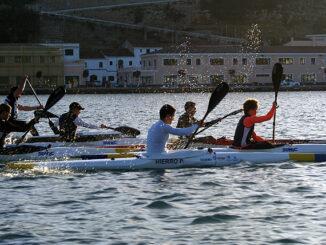 Palistas en el puerto de Mahón