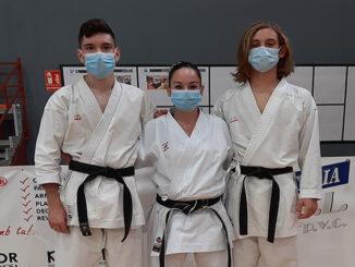 Shotokan de Maó-Carlos Vila,Tsunami Gómez y Marta Recasens 1º DAN