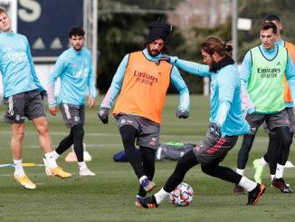 Xavi Sintes-Entreno primer plantilla Real Madrid