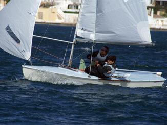 Jordi Triay y Cristian Vidal en regata
