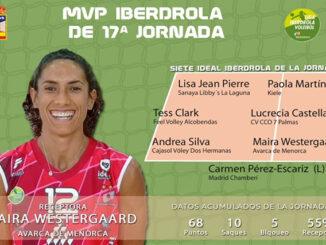Maira Westergaard-MVP 17º jornada Liga Iberdrola volei