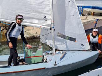 Jordi Triay y Joan Riera - al finalizar la regata