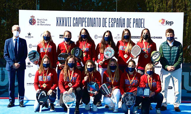 Real Club Polo de Barcelona-Campeón España Pádel por equipos