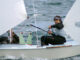 Jordi Triay en regata snipe