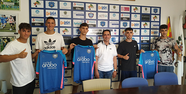 Àlex Marques,Raúl Segòvia,Lucas Olsina,Rodrigo Rodríguez,Isaac Pons-Fichajes Sporting Regional