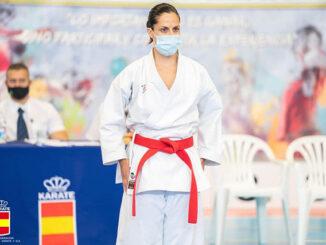 Irene Rotger Alzina, 5º DAN de karate durante campeonato