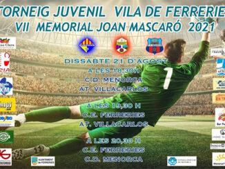 Cartel Torneig Juvenil Vila de Ferreries-Memorial Joan Mascaró