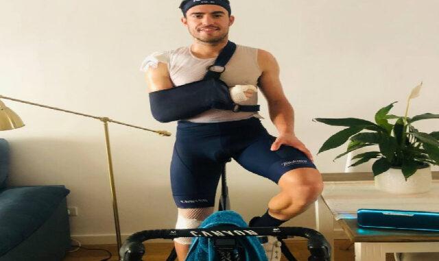 Albert Torres-Entreno tras la lesión