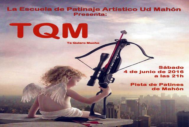 cartel TQM-Escuela de Patinaje Artístico Ud Mahón