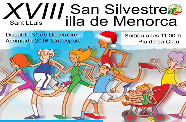 Cartell San Silvestre Sant Lluis 2016