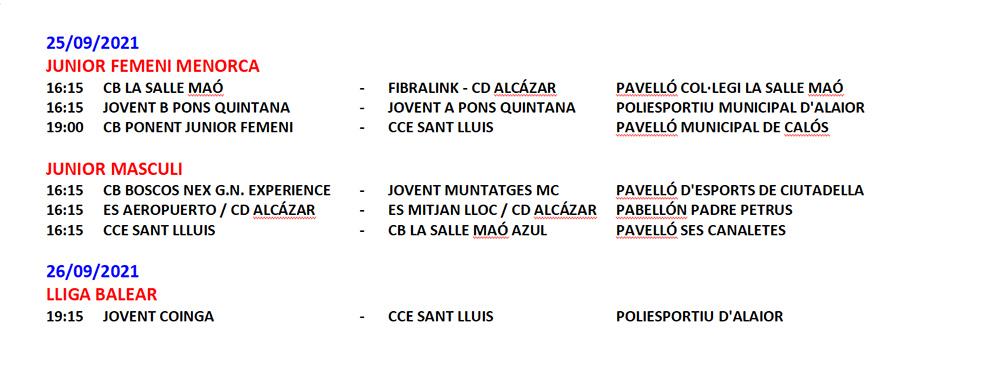 Horarios Bàsquet Menorca1