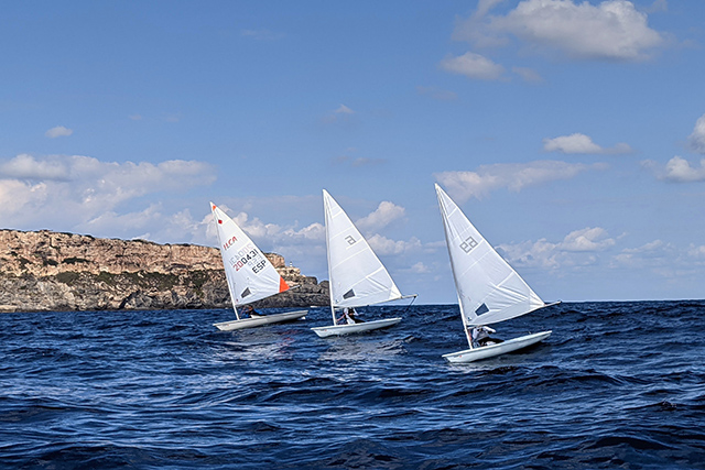 Ilca4 en regata